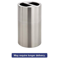 Safco® Dual Recycling Receptacle - 30gal - Stainless Steel