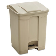 Safco® Large Capacity Plastic Step-On Receptacle - 23gal - Tan