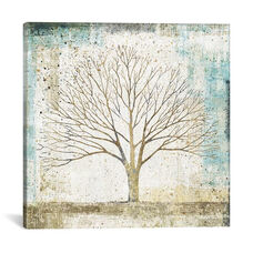 Solitary Tree Collage by All That Glitters Gallery Wrapped Canvas Artwork