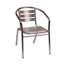 Parma Outdoor Stacking Aluminum Arm Chair