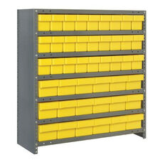 7 Shelf Closed Unit with 18 Large Drawers and 27 Small Drawers - Yellow