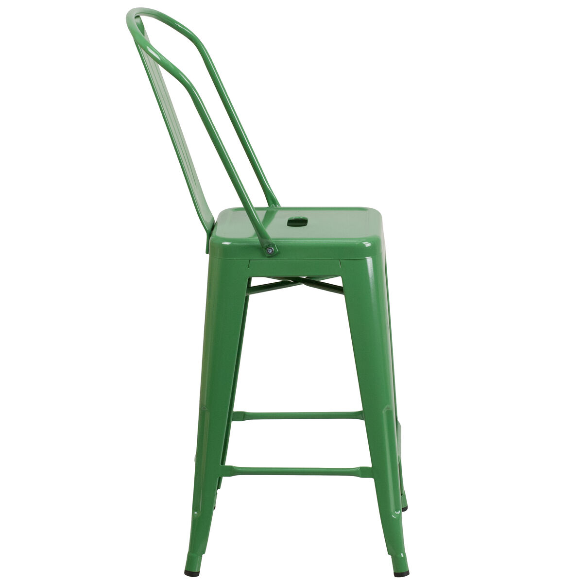24 Quot Green Metal Outdoor Stool Ch 31320 24gb Gn Gg