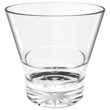 12 oz Rock Glass with Stackable Starburst Base in Clear Polycarbonate