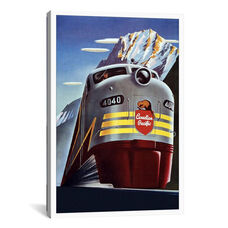 Canadian Pacific (Railway Train) Advertising Vintage Poster by Unknown Artist Gallery Wrapped Canvas Artwork