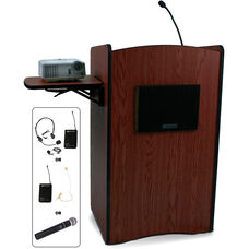 Multimedia Wireless 150 Watt Sound System Computer Lectern - 27