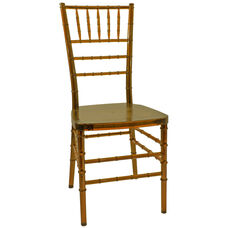 1000 lb. MAX Resin Steel Core Chiavari Chair - Set of 2 - Amber Crystal