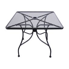 Outdoor Wrought Iron Table with 36'' Square Top