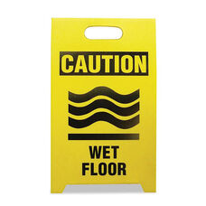 See All® Economy Floor Sign - 12 x 14 x 20 - Yellow/Black - 2/Pack