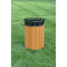 Jamestown Recycled Plastic and Steel 12 Gallon Receptacle with Liner