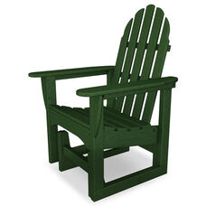 POLYWOOD® Adirondack Collection Glider Chair - Green