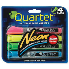 Quartet Neon Dry-Erase Markers - Pack of 4