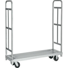Narrow Tall End Steel Frame Truck with 4 Swivel Casters - 16