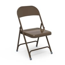 Quick Ship Multi-Purpose Steel Folding Chair with Mocha Finish - 17.75''W x 18.62''D x 29.5''H