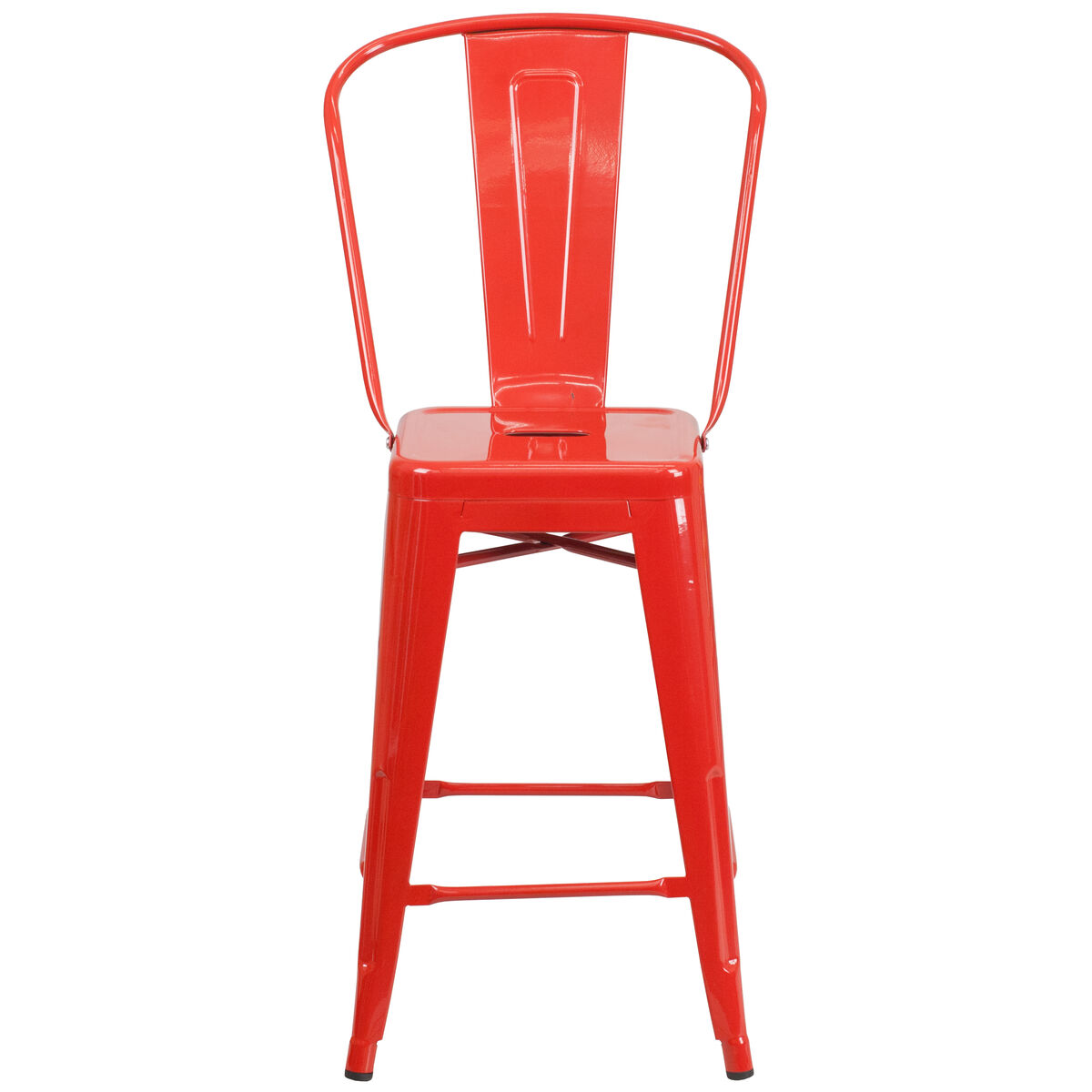 24 Quot Red Metal Outdoor Stool Ch 31320 24gb Red Gg