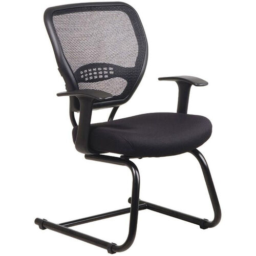 Quick Ship NexStep Guest Chair with Mesh Back and Fabric Seat