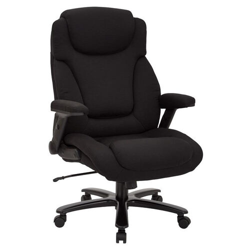 Our Pro-Line II Big and Tall Deluxe High Back Fabric Executive Office Chair with Padded Flip Arms - 400 lb. Weight Capacity - Black is on sale now.