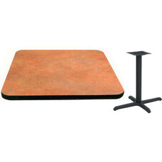 24'' x 30'' Laminate Table Top with Vinyl T-Mold Edge and Base - Standard Height