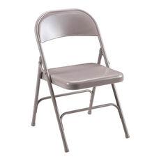 Lorell Beige Steel Folding Chair - Set of 4