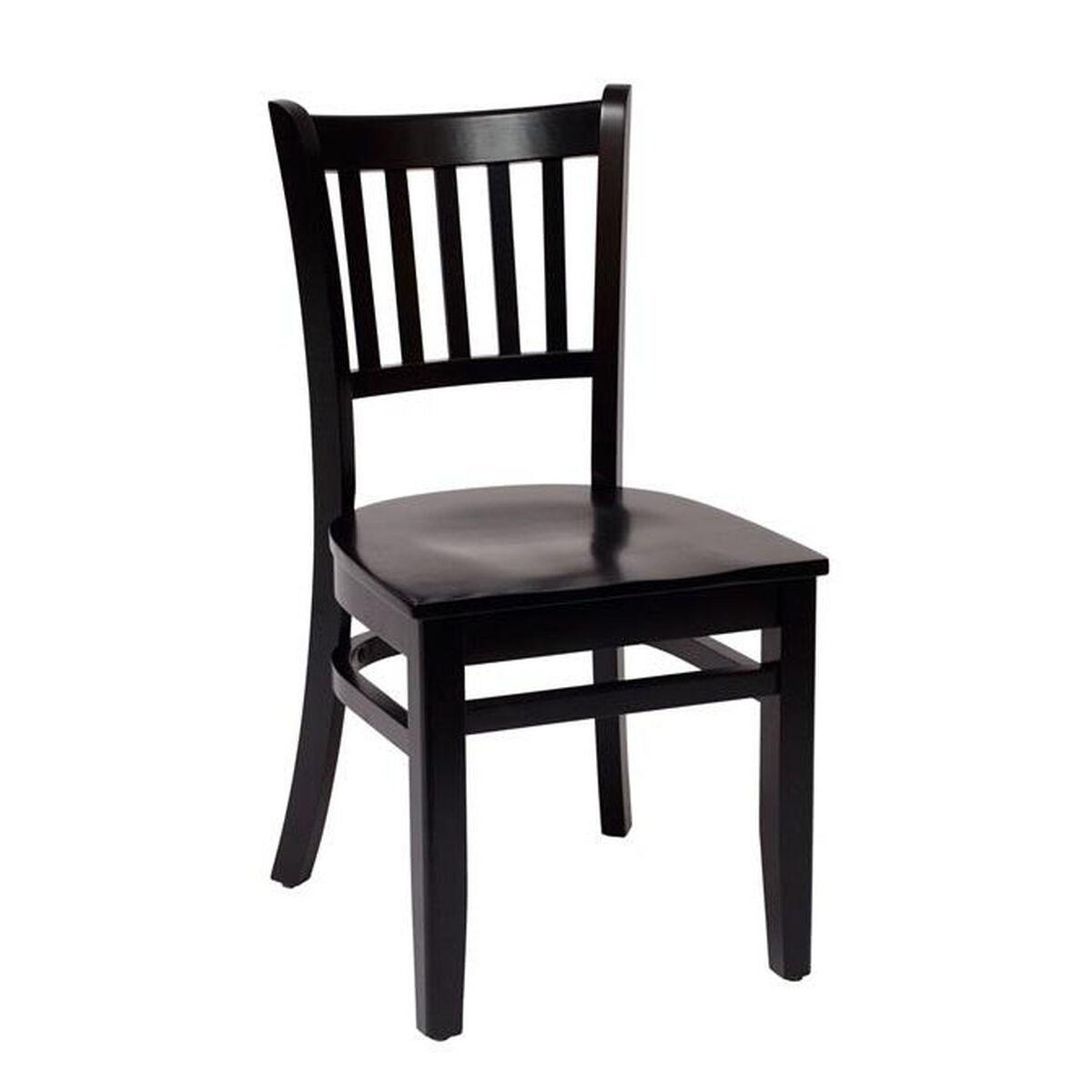 Delran Wood Slat Back Chair Lwc102blblw