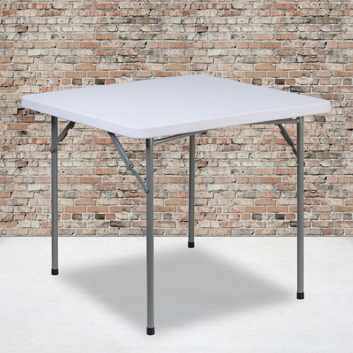 Our 2.81-Foot Square Granite White Plastic Folding Table is on sale now.