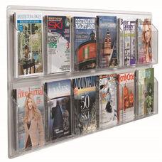 Clear-Vu Horizontal Magazine and Literature Display - 12 Magazines