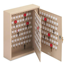 SteelMaster® Locking Two-Tag Cabinet - 240-Key - Welded Steel - Sand - 16 1/2 x 4 7/8 x 20 1/8