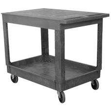 Flat Top Plastic Service Cart - 25.5