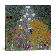 Bauerngarten (Flower Garden) by Gustav Klimt Gallery Wrapped Canvas Artwork