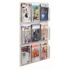 Clear-Vu Magazine and Literature Display - 9 Magazines