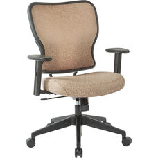 Space 213 Series Deluxe 2 to 1 Mechanical Height Office Chair with Adjustable Arms Chair - Sand