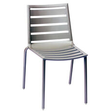 South Beach Stackable Outdoor Side Chair Titanium Silver