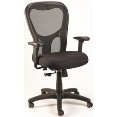 Apollo Synchro High Back 26'' W x 24'' D x 41'' H Adjustable Height Mesh Back Task Chair - Black
