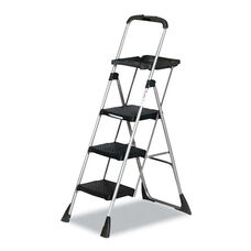 Cosco® Max Work Steel Platform Ladder - 22w x 31d x 55h - 3-Step - Black