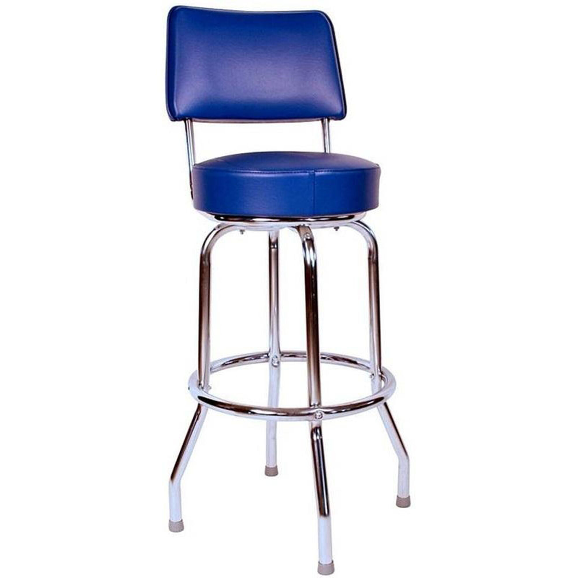 Blue Vinyl Swivel Barstool 0 1957blu
