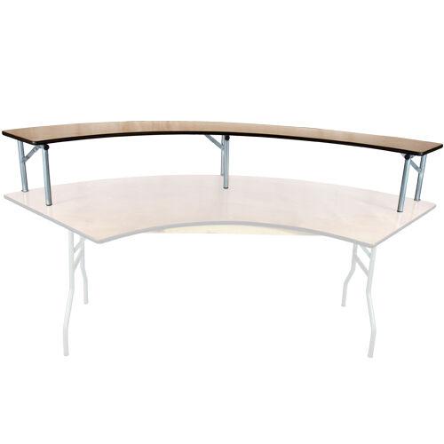 Advantage 6 ft. Serpentine Table Wood Bar Top