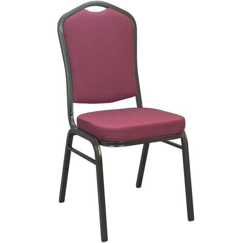 Advantage Burgundy Pattern Crown Back Banquet Chair