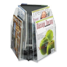 Safco Triangle Tabletop Display - 6 Pocket - 15