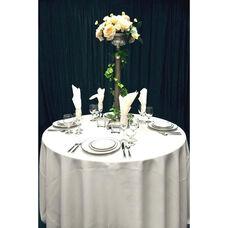 60'' x 120'' Renaissance Stain Resistant Series Rectangular Tablecloth - White