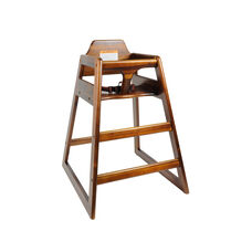 Walnut Finish Wood High Chair