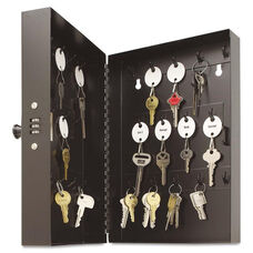 SteelMaster® Hook-Style Key Cabinet - 28-Key - Steel - Black - 7-3/4