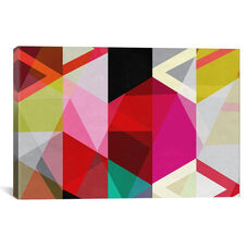 Modern Art - View Through a Kaleidoscope by 5by5collective Gallery Wrapped Canvas Artwork