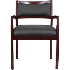 Cypress 22.5'' W x 23.4'' D x 32.3'' H Office Chair with Wooden Frame - Mahogany