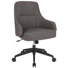 Dinan Home and Office Upholstered Mid-Back Chair in Dark Gray Fabric