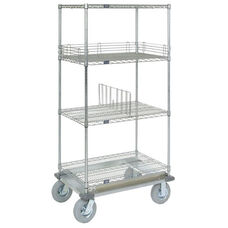 Wire Shelf Dolly Truck W/Rubber 2 Braking Wheels - 18