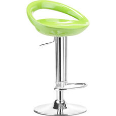 Tickle Swivel Barstool in Green Finish