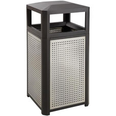 Evos™ Steel Indoor or Outdoor Trash Receptacle - Black
