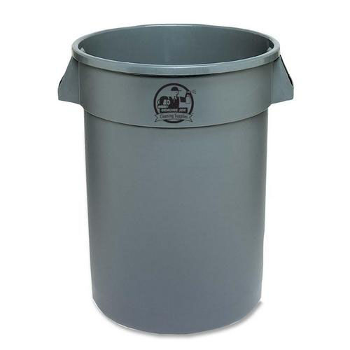 Genuine Joe Trash Containers - Heavy -duty - 32 Gallon - Gray