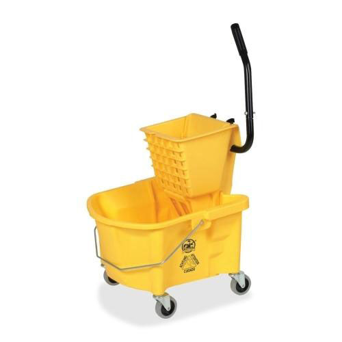 Genuine Joe Mop Bucket Wringer Combo - 3