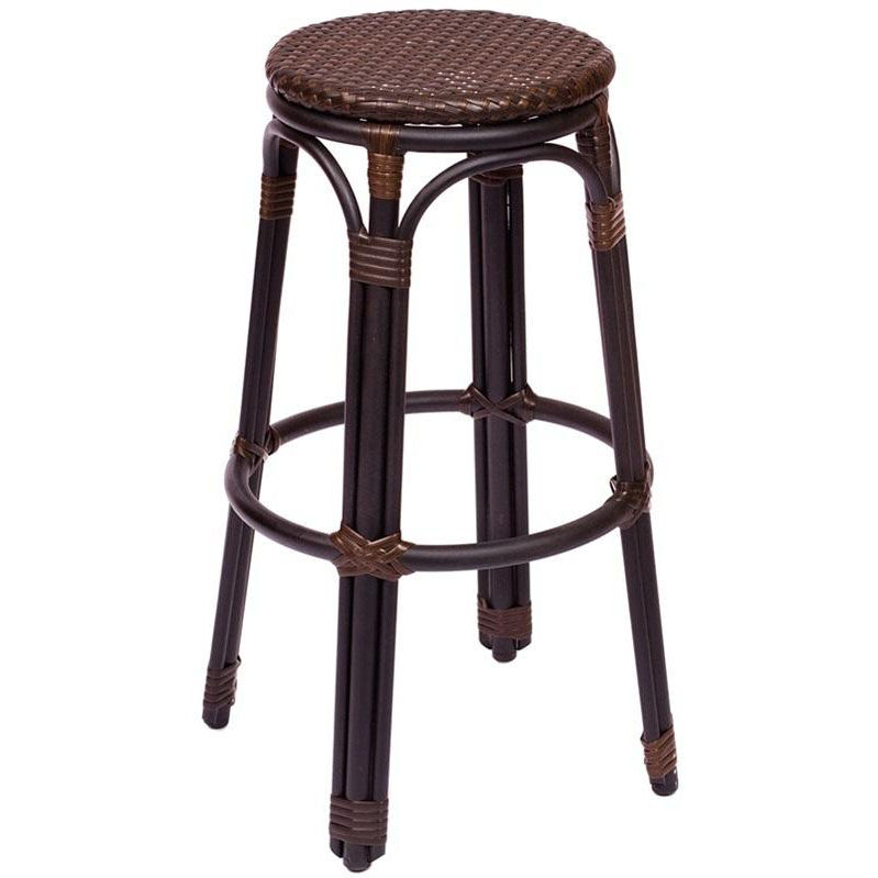 Marina Backless Barstool   Synthetic Wicker