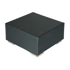 Tatta All-Weather Heavy Duty Modern Polyethylene Wicker Coffee Table